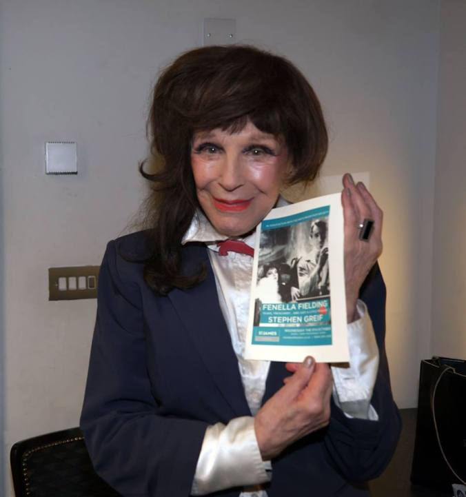 Fenella Fielding and the poster designed by Misty Moon's Ronnie Clark