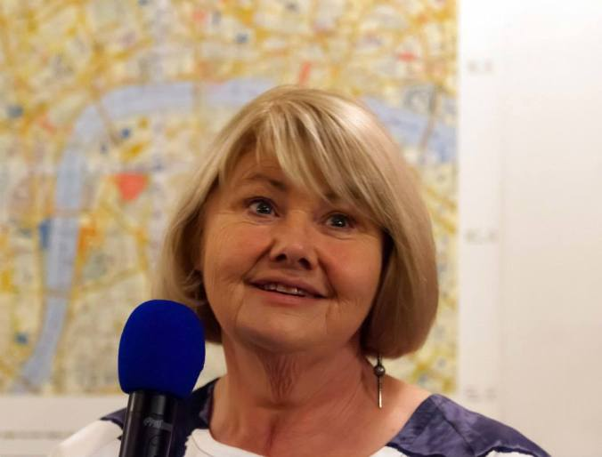 Annette Badland during the Q&A