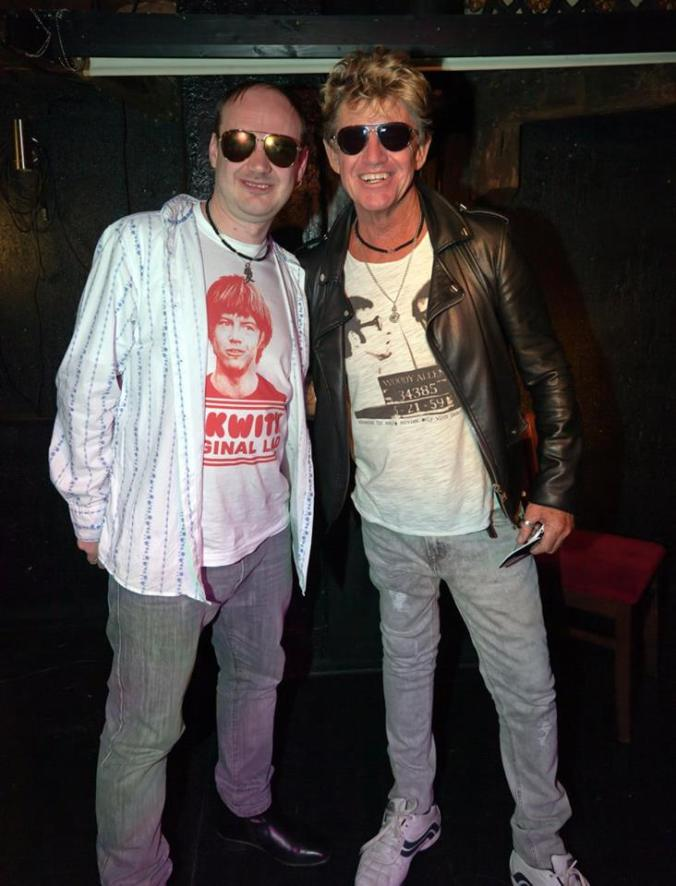 Robin Askwith with his Number One Fan Alan Vickers