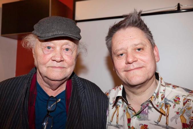 Dudley Sutton and The Curator Stuart Morriss