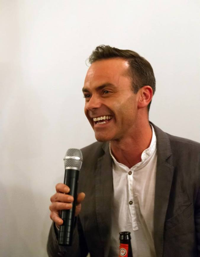 Daniel Brocklebank during the Q&A