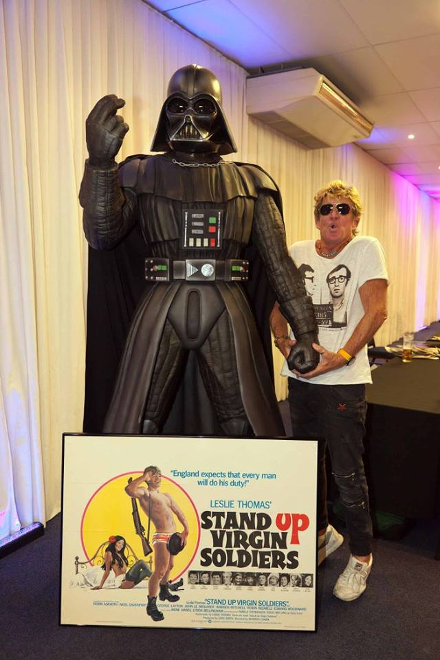 The cheeky window cleaner is reunited with his old Elstree pal Darth Vader