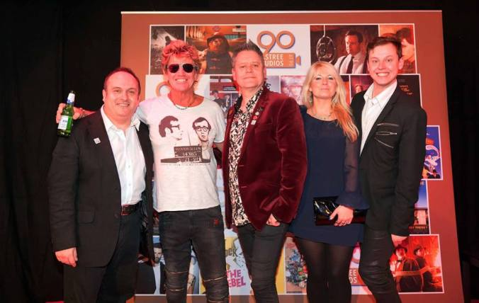 Misty Moon meets Elstree Studios. Elstree Chairman Morris Bright, Robin Askwith, The Curator, Jen Morriss and Chris Collins