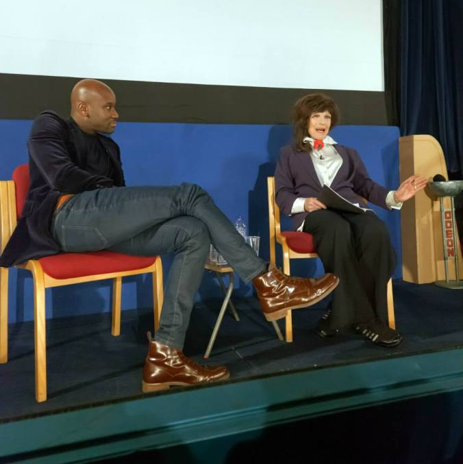 Trevor Blackman and Fenella Fielding at The Cinema Museum during the Q&A