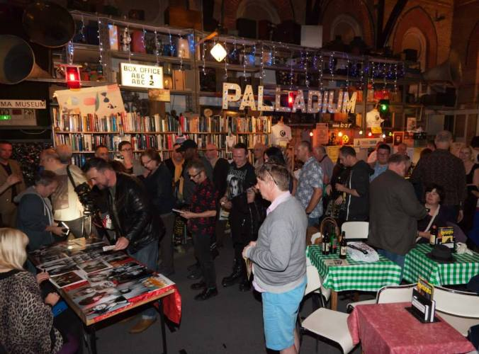 The queue for Fenella's signing at The Cinema Museum June 2015