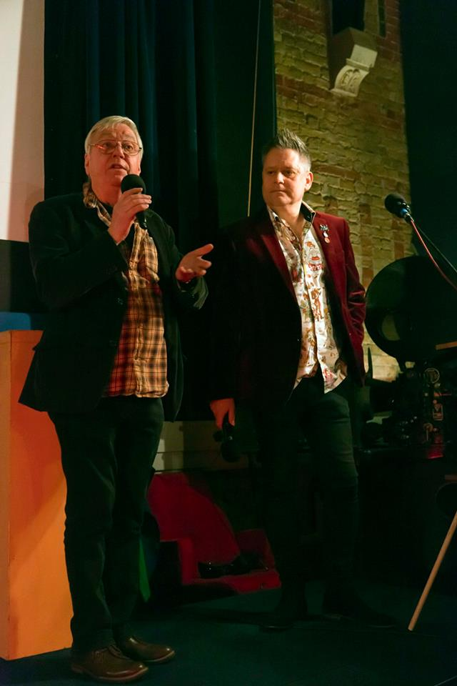 The hosts David Barry and Stuart Morris