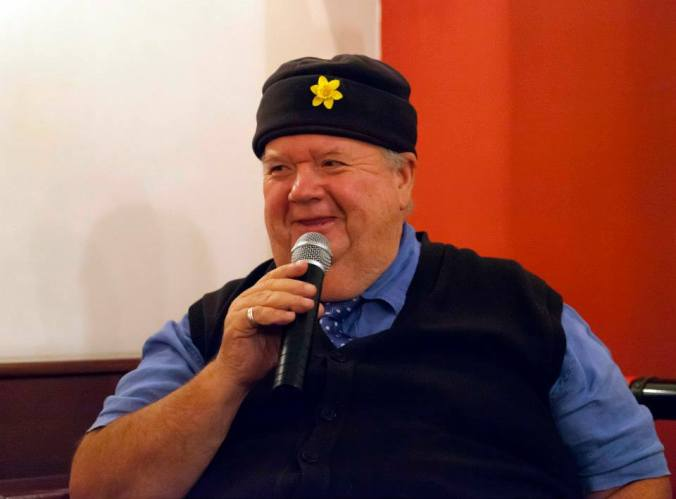 Having a chuckle with Ian McNeice