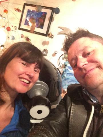 Stuart Morriss, Sophie Aldred & a Dalek having a selfie