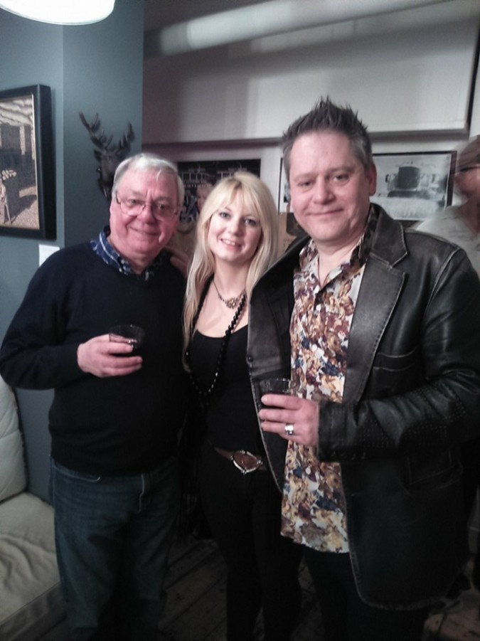 Misty Moon Honorary Patron David Barry, with Jen and Stuart Morriss