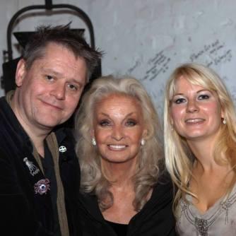 Kate O'Mara With Stuart & Jen Morriss