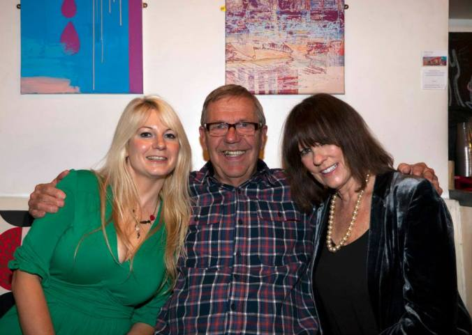 Jen Morriss, Larry Dann and Hammer Babe & Misty Moon's Honorary Patron Judy Matheson