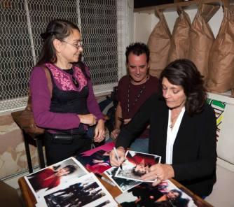 Sarah Douglas signing