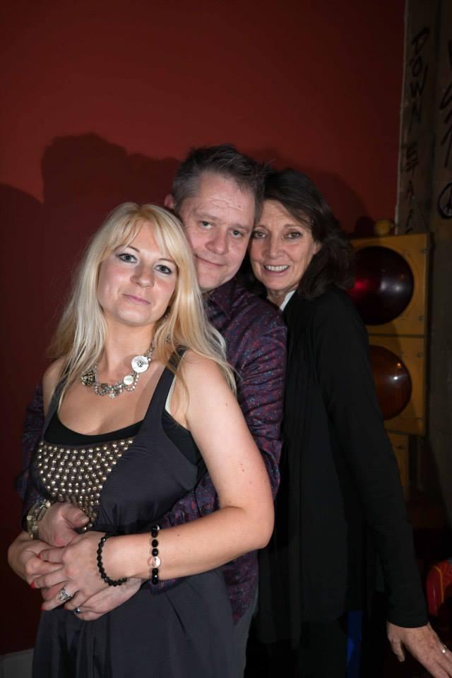 Sarah Douglas with Stuart & Jen Morriss