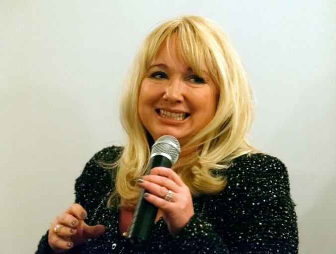 Paula Ann Bland during the Q&A