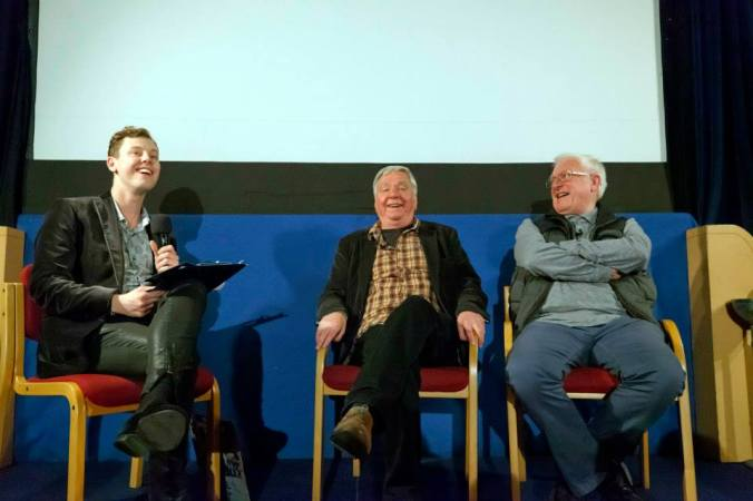Chris Collins, David Barry and Peter Cleall during the Q&A