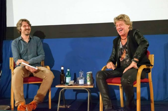 On stage at The Cinema Museum with Simon Sheridan and Robin Askwith