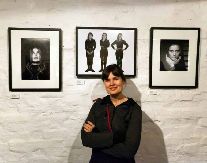 Sophie Aldred at the very last exhibition in Ladywell, celebrating Sophie's World