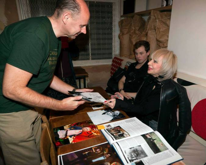 Katy Manning signing
