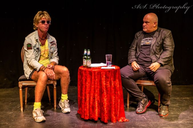 The Second Coming Of Robin Askwith @ Upstairs At The Gatehouse. Robin with MC Derren Litten