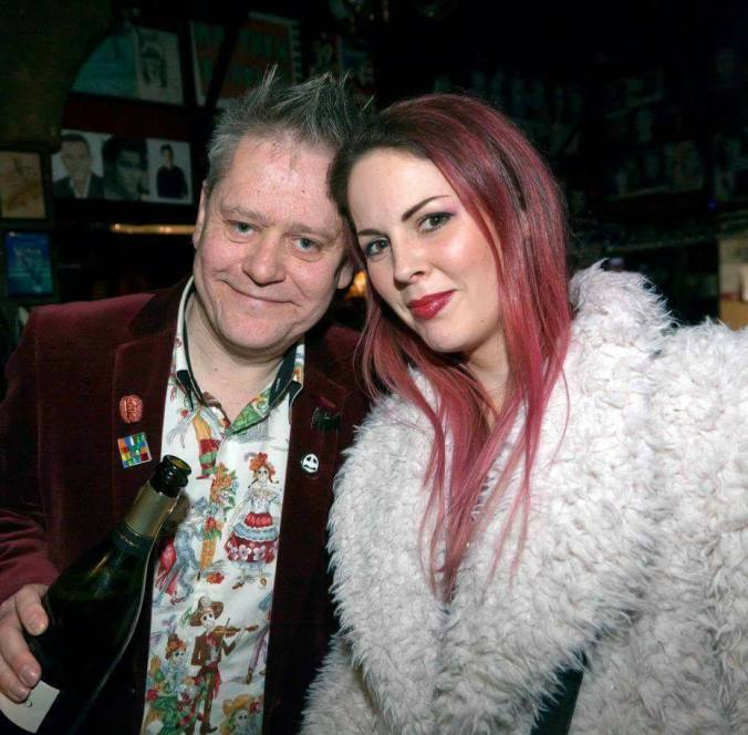Stuart Morris with the dynamic and gorgeous Emma Dark Misty Moon's newest Patron