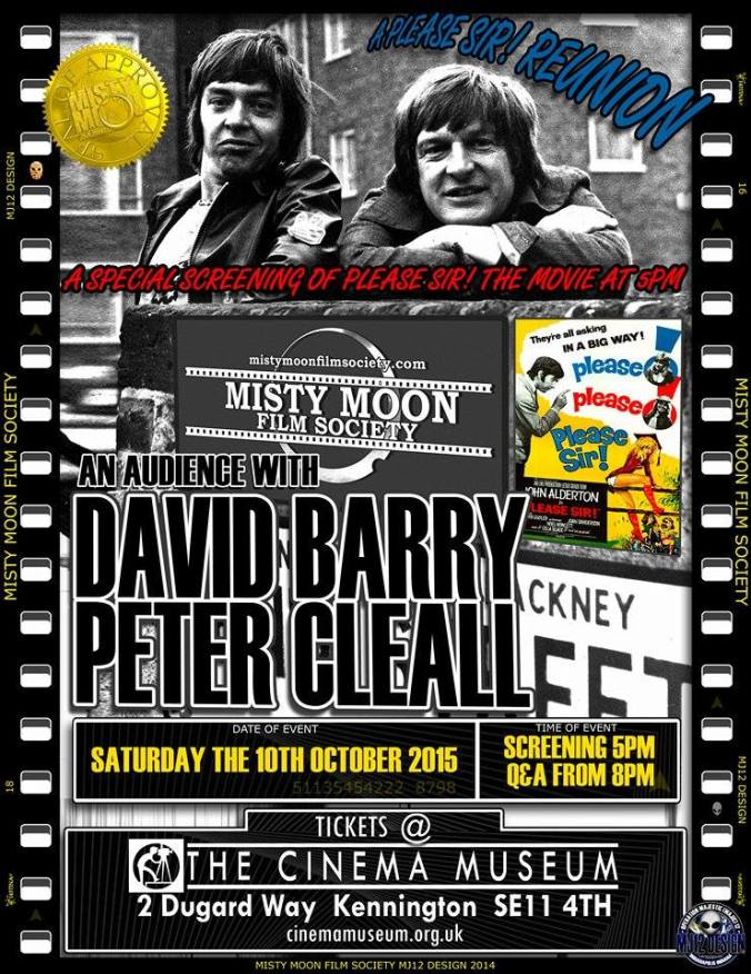 "An Audience With David Barry & Peter Cleall - A ""Please Sir Reunion""."
