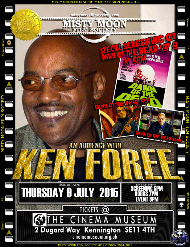 To Book Tickets For The Main Event https://billetto.co.uk/audience-with-ken-foree To Book Tickets For The Screening Of Dawn Of The Dead https://billetto.co.uk/dawn-of-the-dead