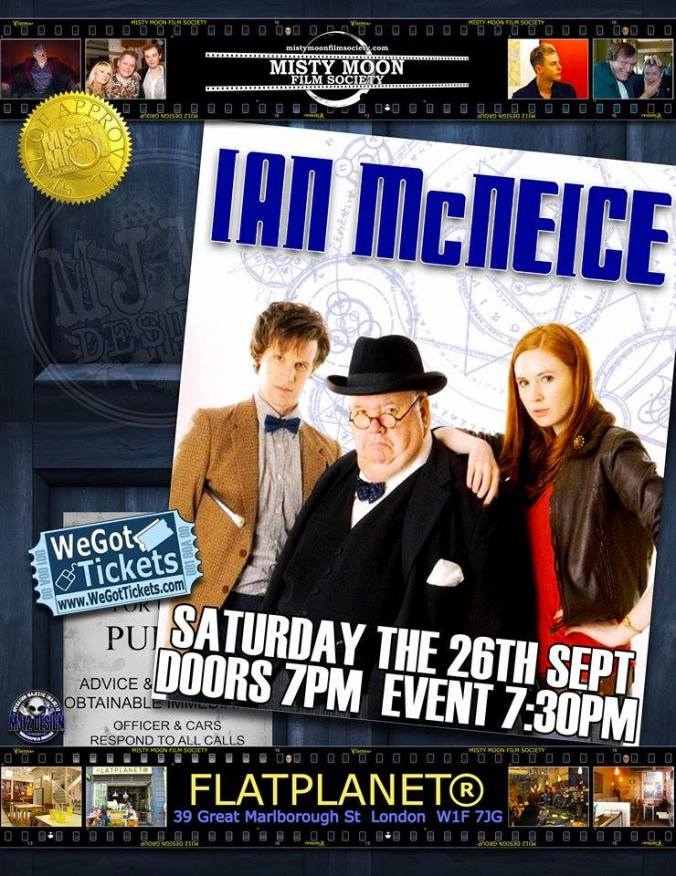 An Evening With Ian McNeice. To Book Tickets Please Click The Link http://www.wegottickets.com/event/324972