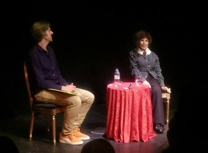 Special Guest MC Simon Sheridan and Fenella Fielding during the Q&A