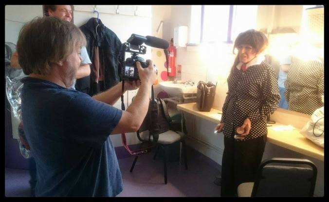Back stage in the dressing room with Fenella Fielding
