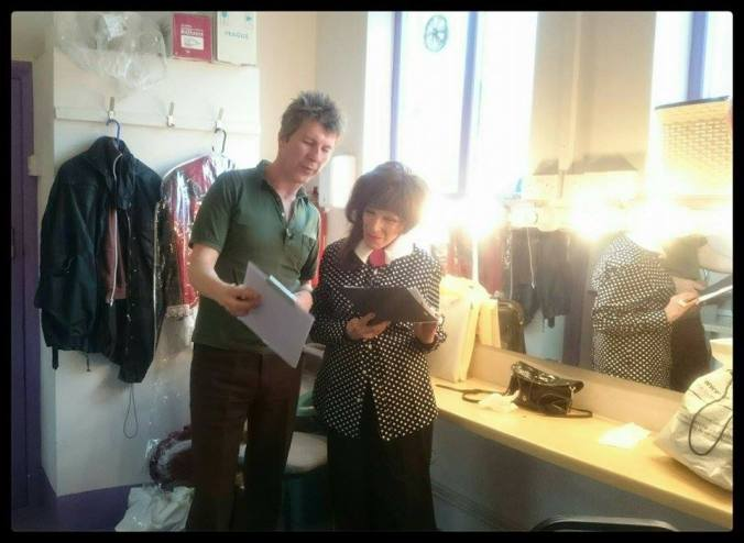 Rehearsing Frankenstein with Fenella Fielding