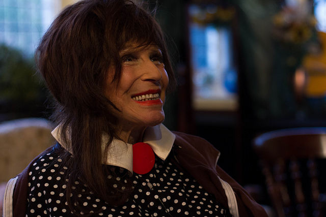 Fenella Fielding after the show