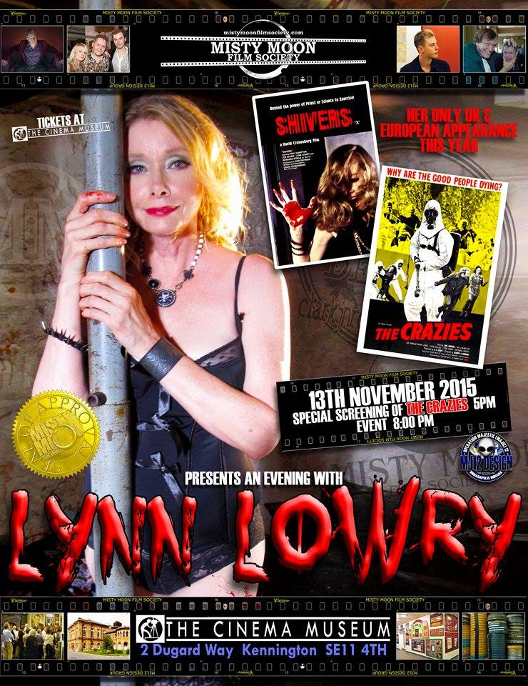 Tickets available in advance https://billetto.co.uk/en/events/an-audience-with-lynn-lowry