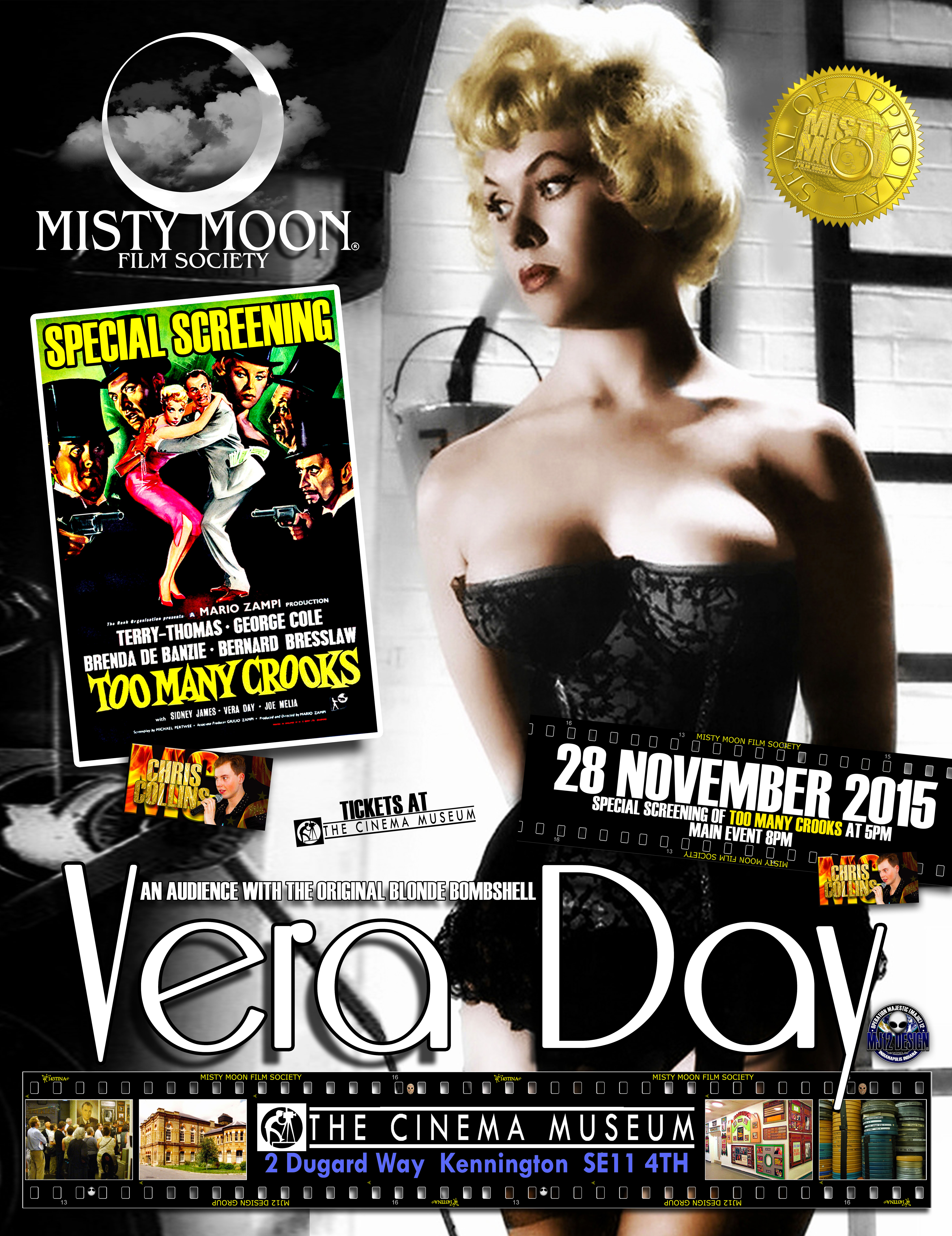 Tickets available in advance at https://billetto.co.uk/an-audience-with-vera-day