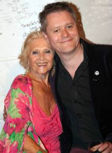 Misty Moon's Curator Stuart Morriss and the original blonde bombshell Vera Day
