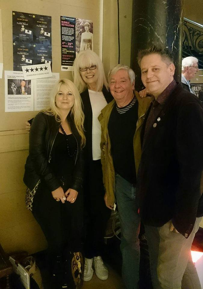 Cast and crew of A Day In The Lives Of Frankie Abbott with their 5***** review in The Scotsman and Edinburgh Evening News