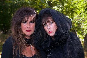 Clarissa and Vera Vomit aka Hammer Babes Caroline Munro and Judy Matheson