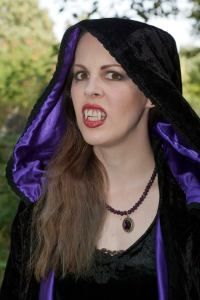 Agnes aka Emma Dark being a little more scary than Red Riding Hood