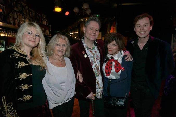 Jen Morriss, Vera Day, The Curator, Fenella Fielding and Chris Collins